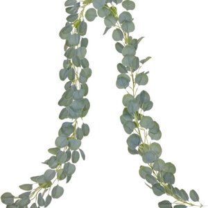 Eucalyptus Greenry Faux Silk Leaves 6ft Wall Decor